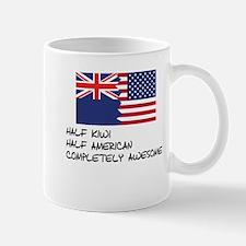 Half Kiwi Completely Awesome Mugs