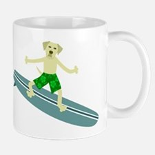 Yellow Labrador Retriever Surfer Coffee Mug