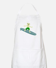 Yellow Labrador Retriever Surfer BBQ Apron