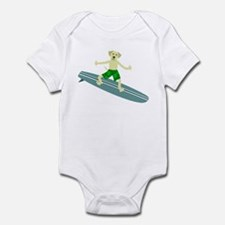 Yellow Labrador Retriever Surfer Infant Bodysuit