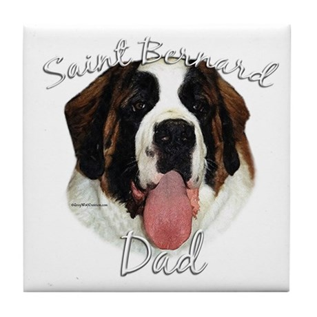 Saint Dad2 Tile Coaster