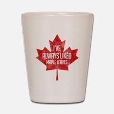 Always Liked Maple Leaves Shot Glass