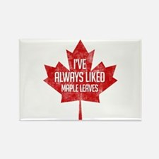 Always Liked Maple Leaves Rectangle Magnet
