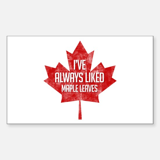 Always Liked Maple Leaves Sticker (Rectangle)