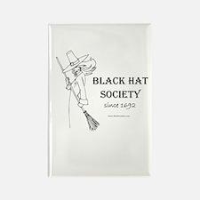 Black Hat Society Rectangle Magnet