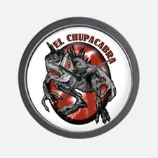 Chupacabra with Background 1 Wall Clock