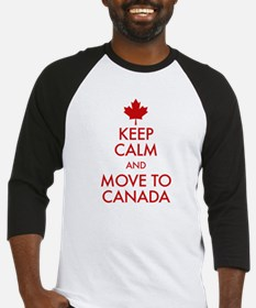 Keep Calm Move to Canada Baseball Jersey