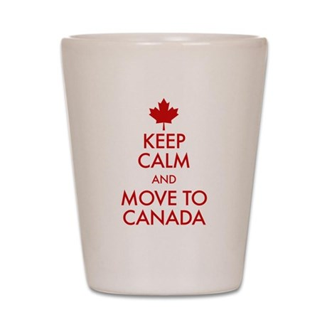 Keep Calm Canada Shot Glass