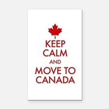 Keep Calm Move to Canada Rectangle Car Magnet