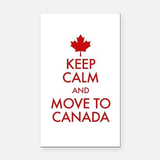 Keep Calm Move to Canada Rectangle Car Magnet