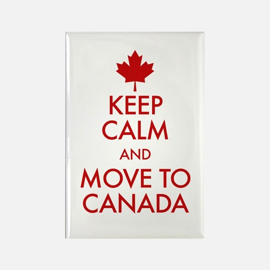 Keep Calm Move to Canada Rectangle Magnet