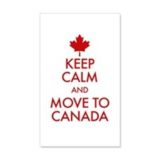 Keep Calm Move to Canada Wall Decal