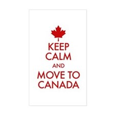 Keep Calm Move to Canada Decal
