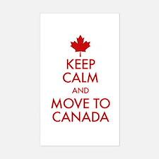 Keep Calm Move to Canada Sticker (Rectangle)
