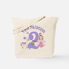 Unicorn Princess 2nd Birthday Tote Bag