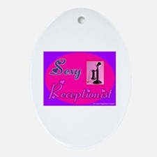 Sexy Receptionist Oval Ornament