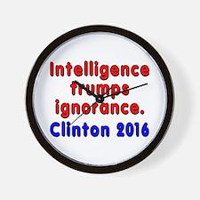 Intelligence trumps ignorance - Wall Clock