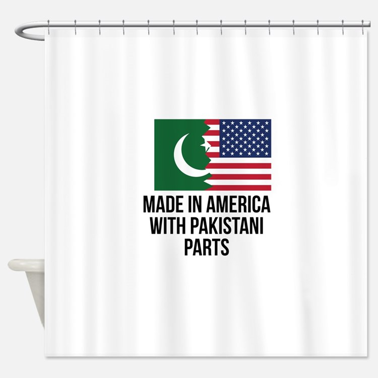 Made In America With Pakistani Parts Shower Curtai