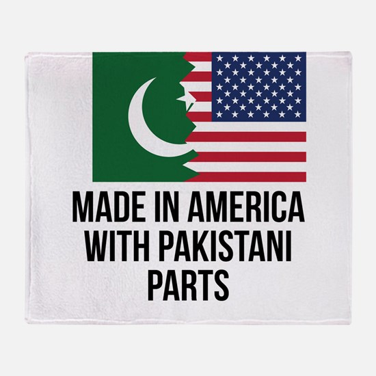 Made In America With Pakistani Parts Throw Blanket