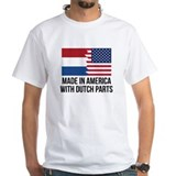 America dutch Mens Classic White T-Shirts
