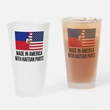 Made In America With Haitian Parts Drinking Glass