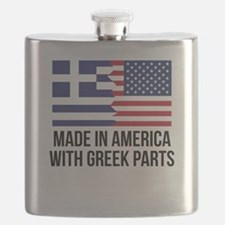 Made In America With Greek Parts Flask