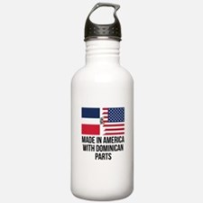 Made In America With Dominican Parts Water Bottle