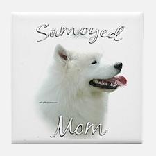 Samoyed Mom2 Tile Coaster