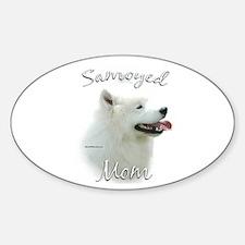 Samoyed Mom2 Oval Decal