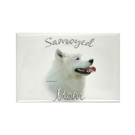 Samoyed Mom2 Rectangle Magnet