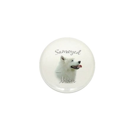 Samoyed Mom2 Mini Button