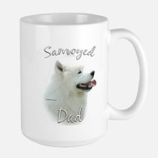 Samoyed Dad2 Large Mug