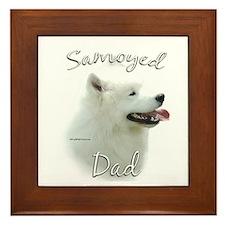 Samoyed Dad2 Framed Tile