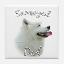 Samoyed Dad2 Tile Coaster
