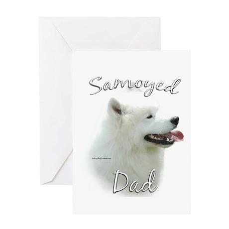 Samoyed Dad2 Greeting Card
