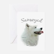 Samoyed Dad2 Greeting Card