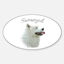 Samoyed Dad2 Oval Decal