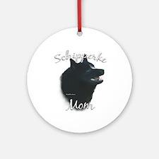 Schipperke Mom2 Ornament (Round)