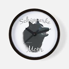 Schipperke Mom2 Wall Clock