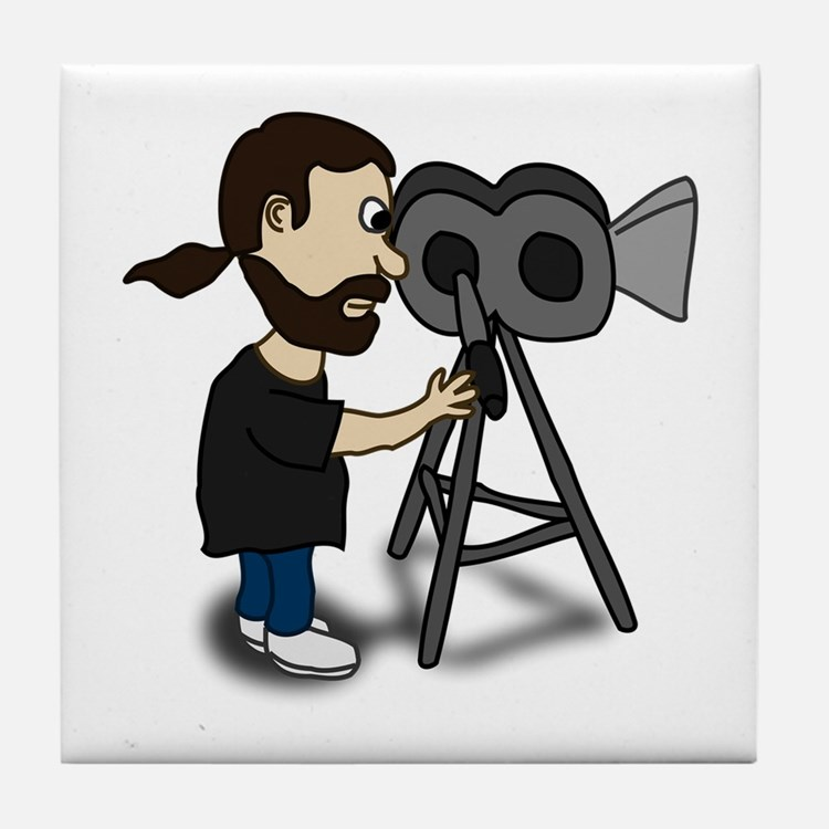 Comic Characters Filmmaker Tile Coaster