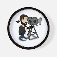 Comic Characters Filmmaker Wall Clock