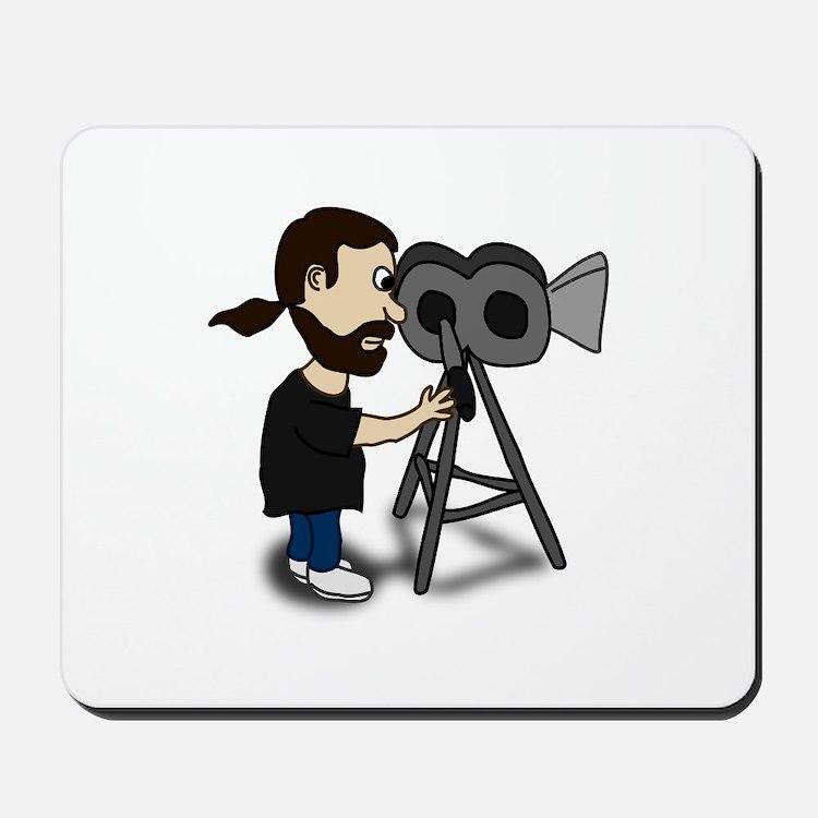 Comic Characters Filmmaker Mousepad