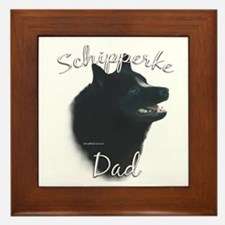 Schipperke Dad2 Framed Tile