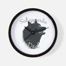 Schipperke Dad2 Wall Clock