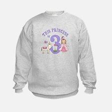 Unicorn Princess 3rd Birthday Sweatshirt