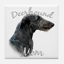 Deerhound Mom2 Tile Coaster