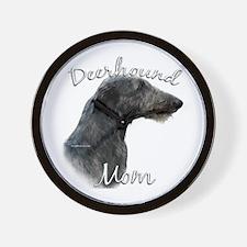 Deerhound Mom2 Wall Clock