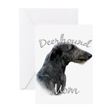 Deerhound Mom2 Greeting Card
