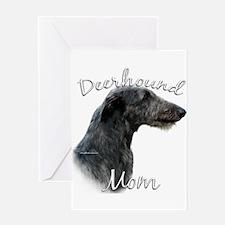 Deerhound Mom2 Greeting Card