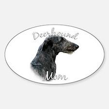 Deerhound Mom2 Oval Decal